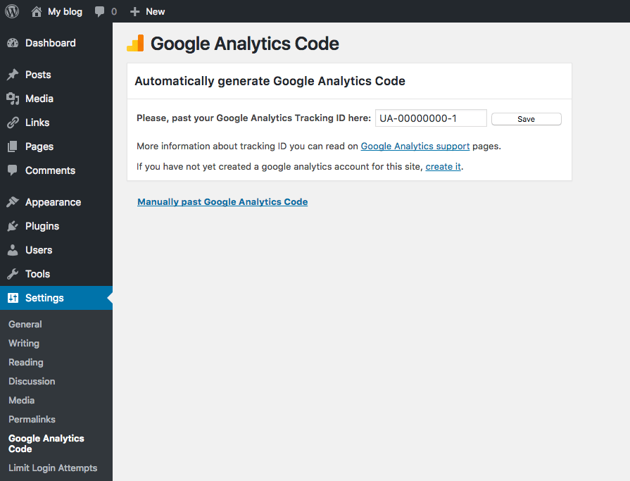 google analytics add to wordpress