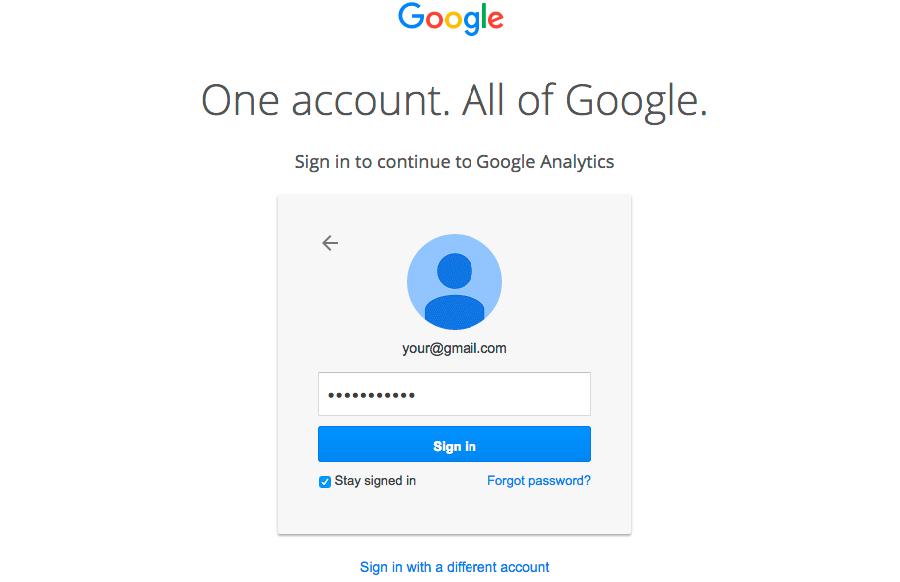 google analytics sign up 2
