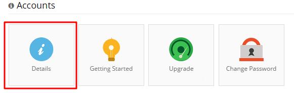 hostinger details section for smtp