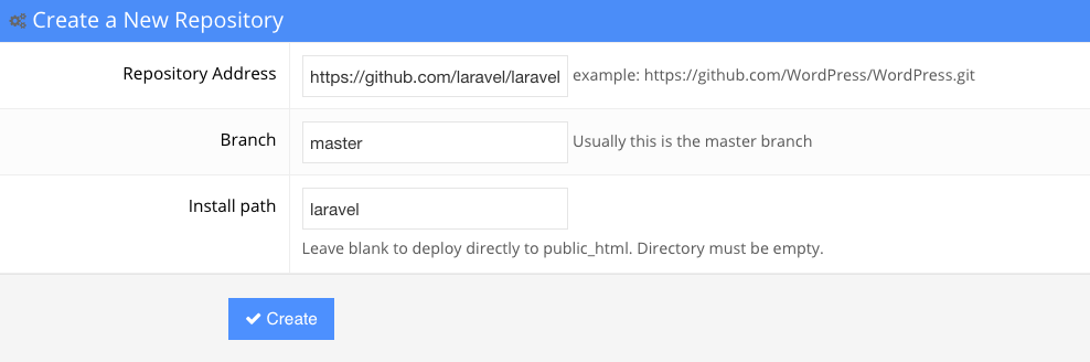 hostinger git create repository