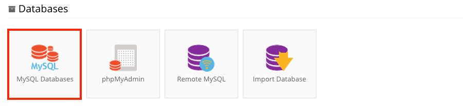 hostinger mysq databases section