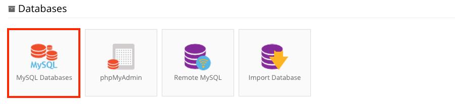 hostinger mysq databases section