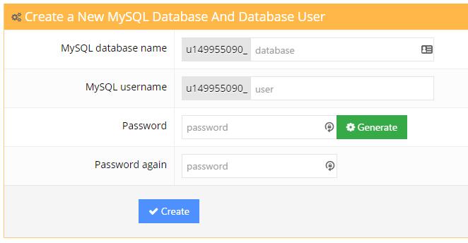 hostinger20database20creation