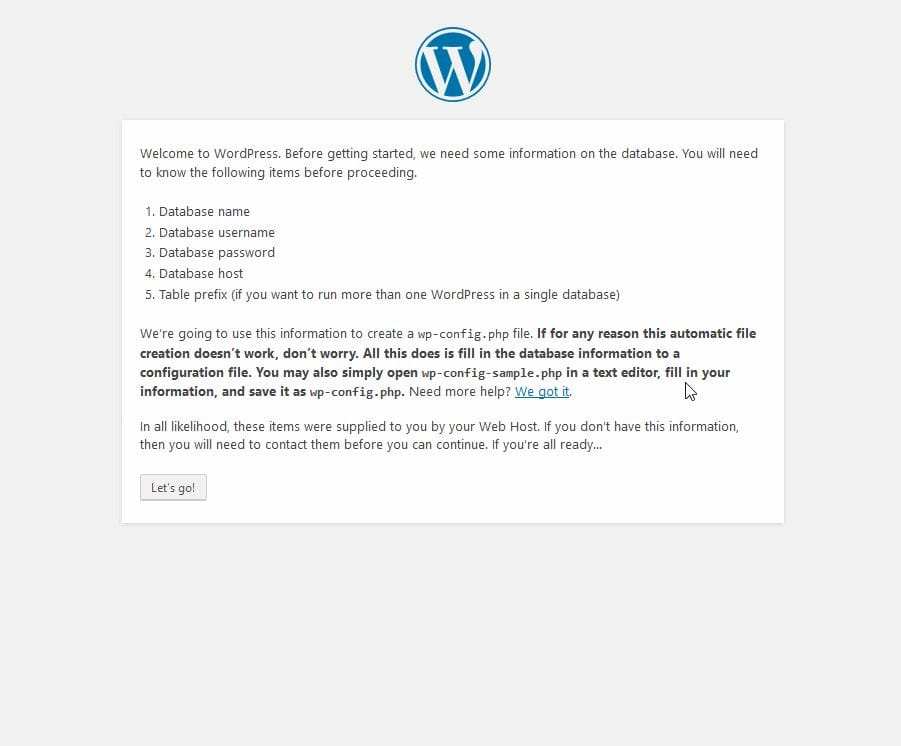 installing wordpress on cpanel
