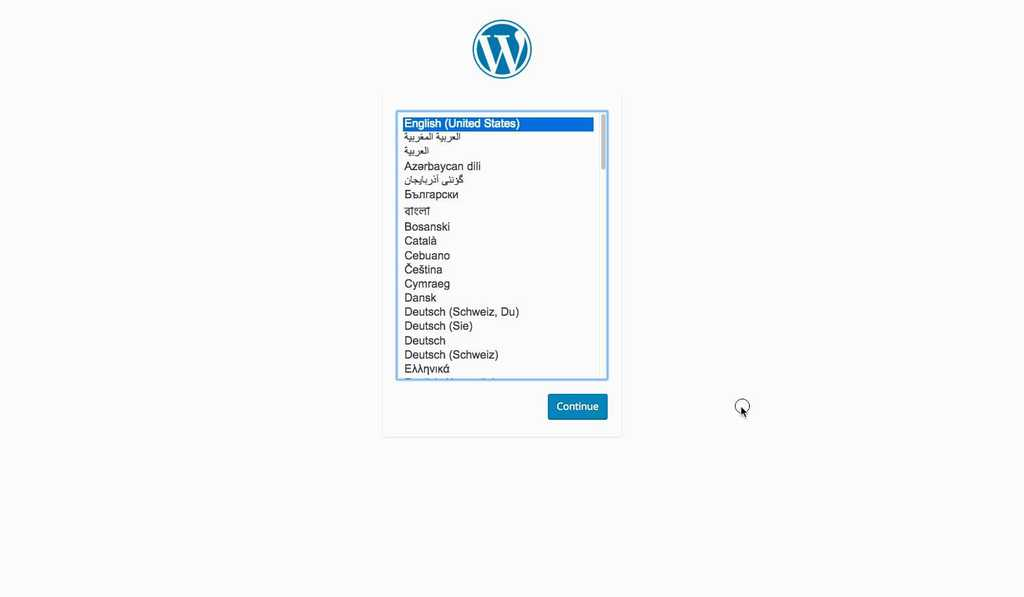 manually installing wordpress