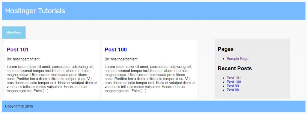 menu suspenso aplicado no site