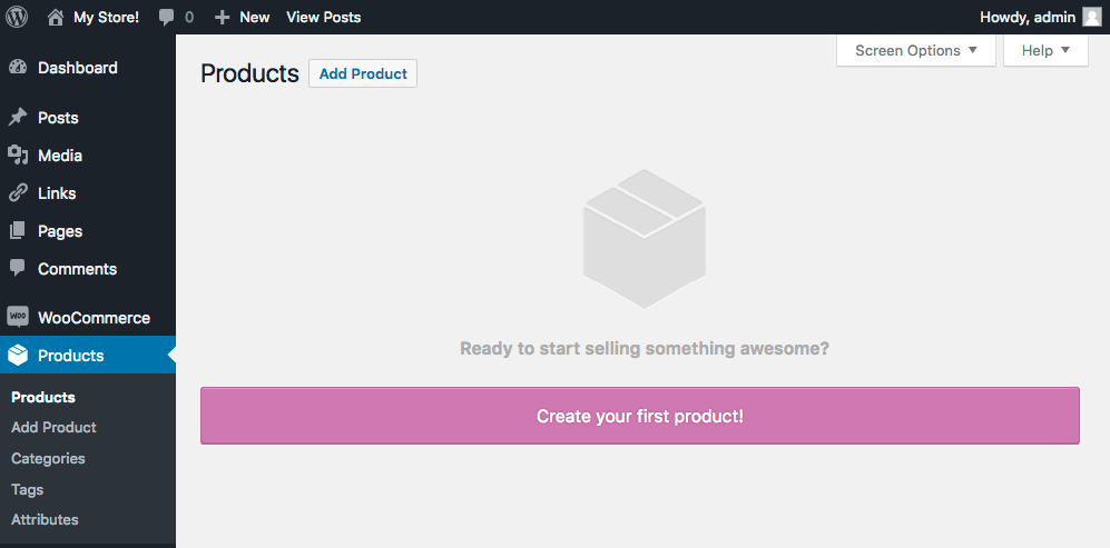 add new product woocommerce