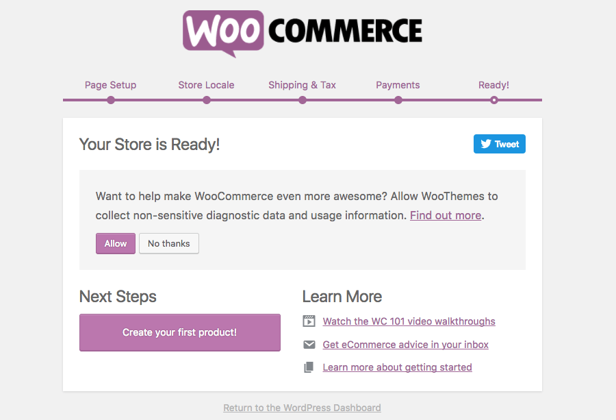 woocommerce ready page