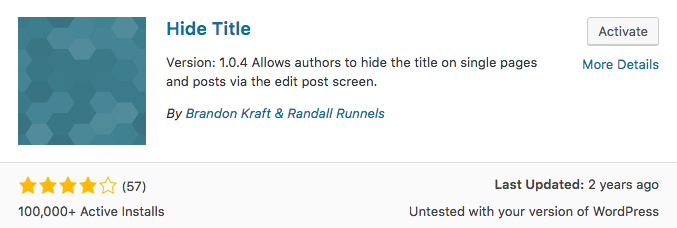 wordpress hide title plugin