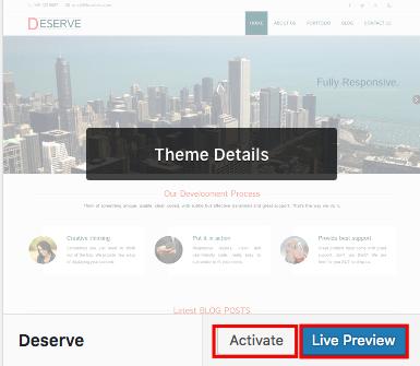 wordpress theme ftp upload activate