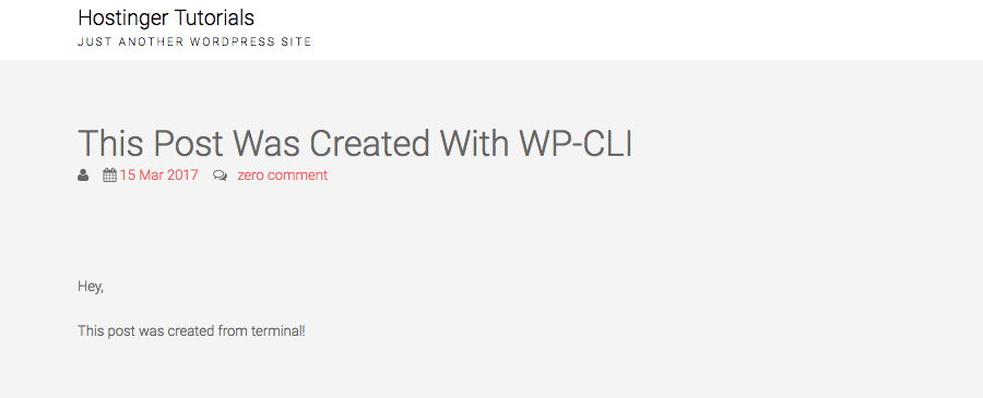 wp cli create post