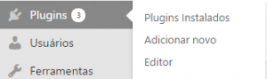 opção de instalar plugins no wordpress