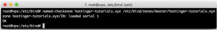 checando zona de DNS usando comando checkzone para apontar domínio para vps