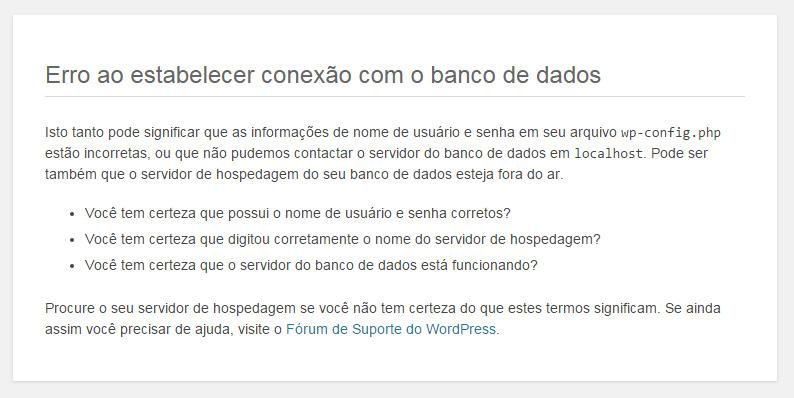 Como corrigir Erro ao Estabelecer uma Conexão com o Banco de Dados no WordPress Erro-estabelecer-conex%C3%A3o-banco-de-dados-mysql