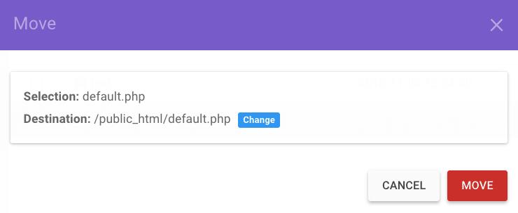mover arquivos para pasta html