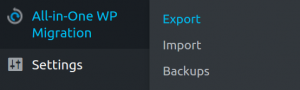importando backups no painel wp