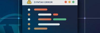 como corrigir erro de sintaxe hostinger