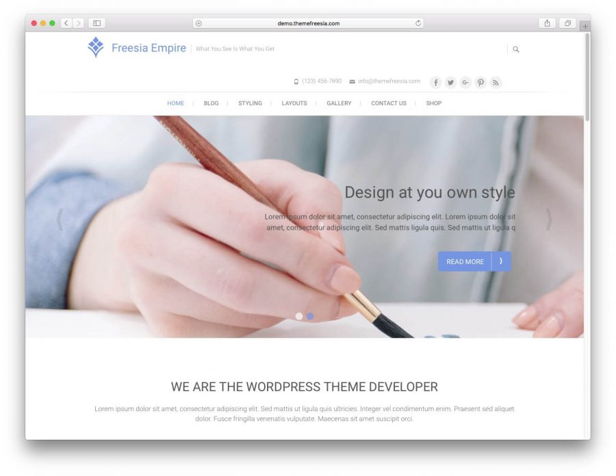 tema freesia empire para wordpress