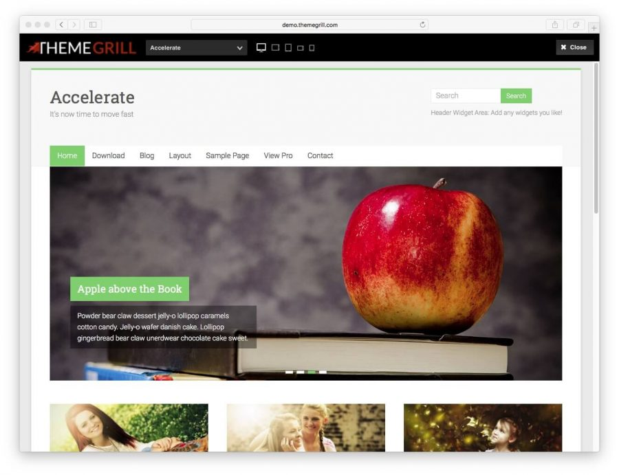 tema accelerate para wordpress