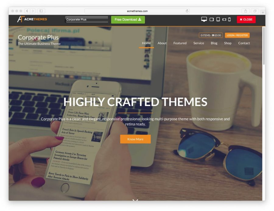 tema corporate plus para wordpress
