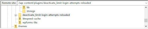 exemplo de como desativar plugins pelo wp_content