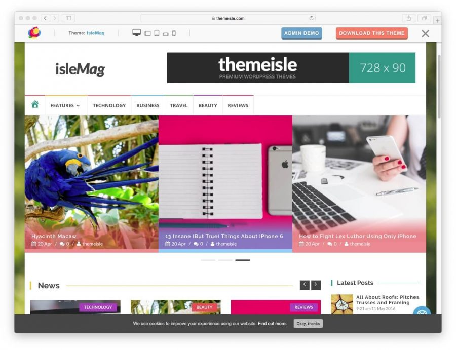 islemag theme for wordpress
