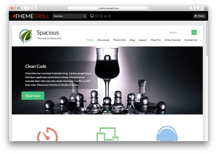 tema spacious para wordpress