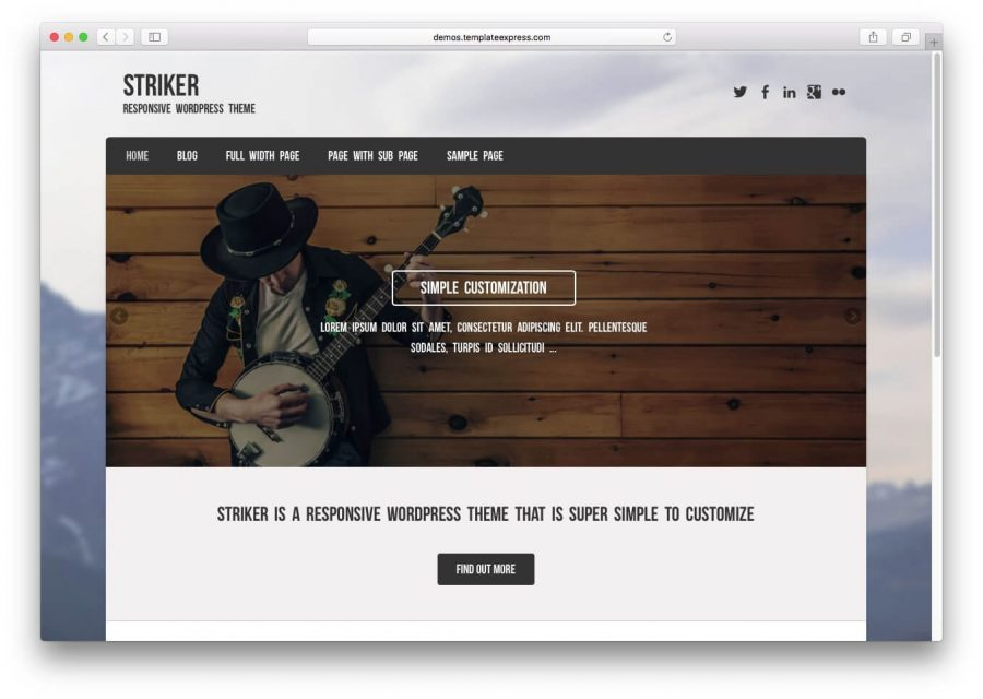 tema striker para wordpress