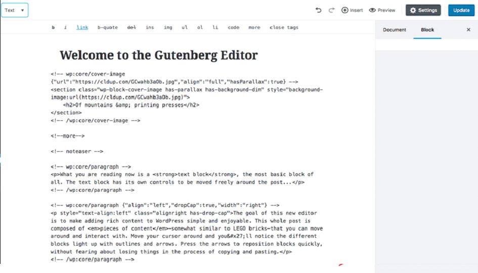 Hostinger - o que é Gutenberg