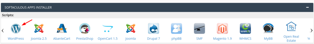 installing wp in hosting