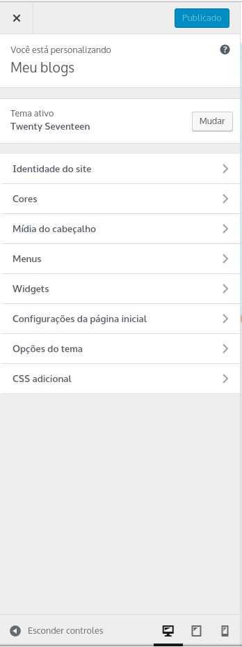 personalizando seu blog wordpress