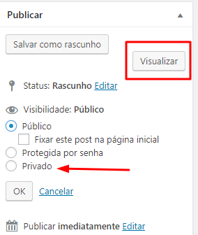 publicando o primeiro post no blog wp