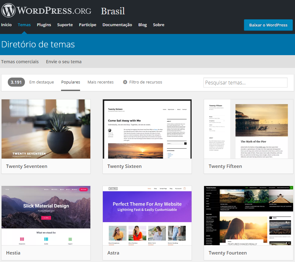 temas do wordpress para instalar