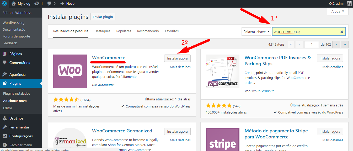 Adicionar Woocommerce no wordpress