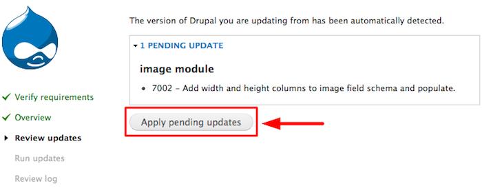 aplicar atualização drupal