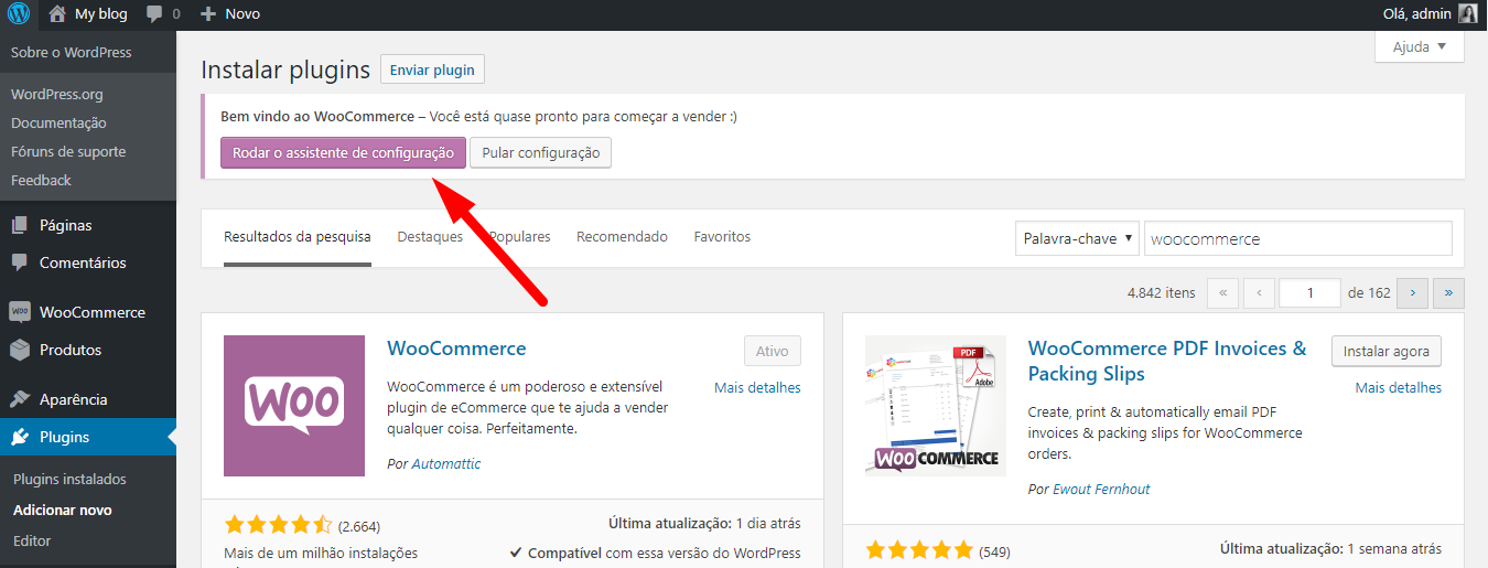 Configurar WooCommerce no WordPress