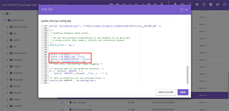 editar arquivo gerenciador de arquivos hpanel