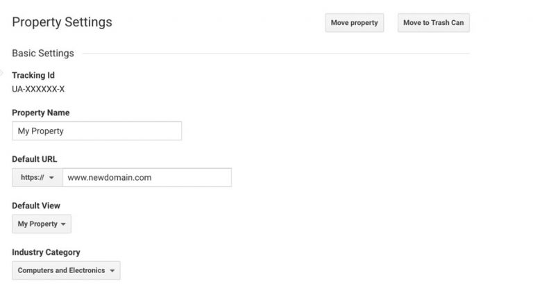 Google analytics exchange domain