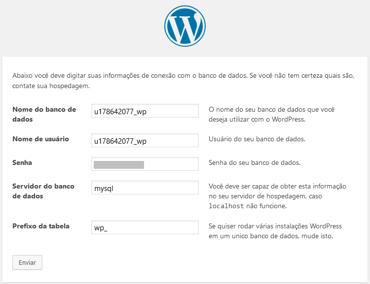 instalando wordpress via ftp
