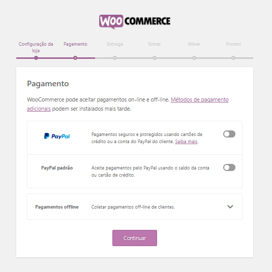 woocommerce payment screen