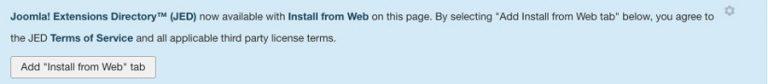 adicionar tab da web no joomla