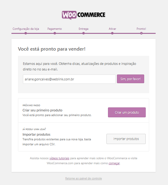 Whole setup - Woocommerce