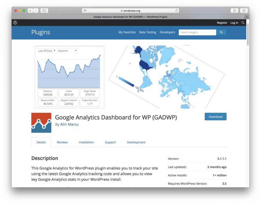 google analytics dashboard para wordpress plugin