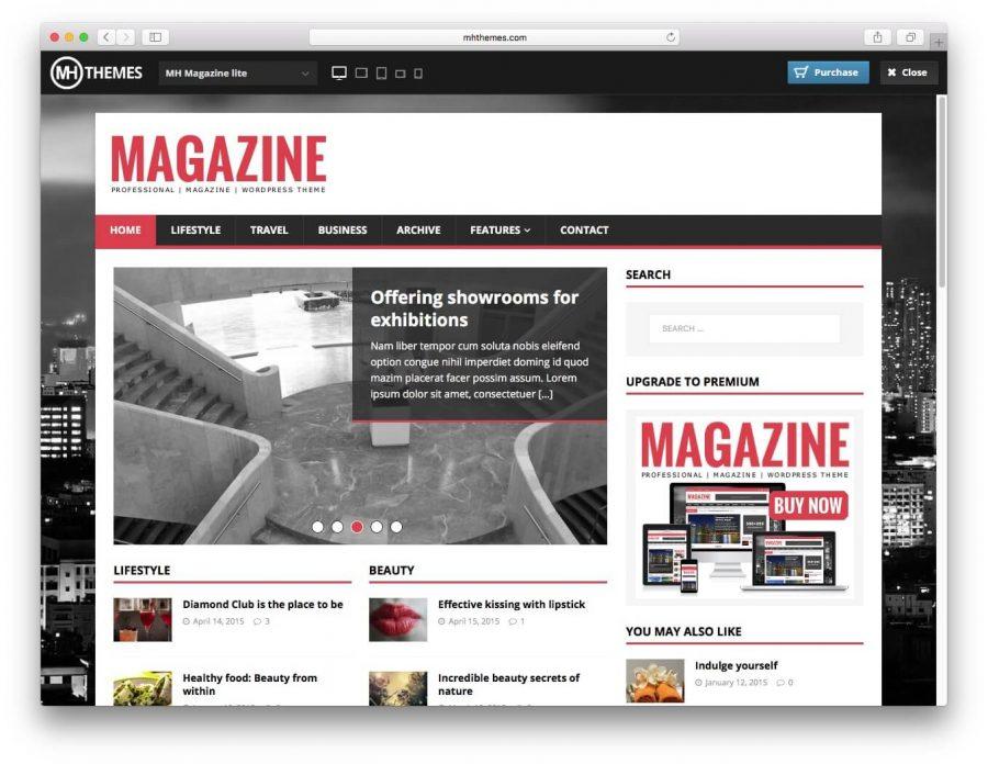 tema MH Magazine lite para wordpress