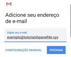 adicionar endereço de email no Gmail