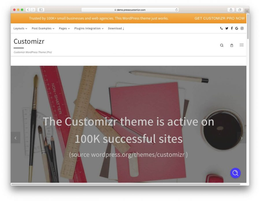 tema customizr para wordpress