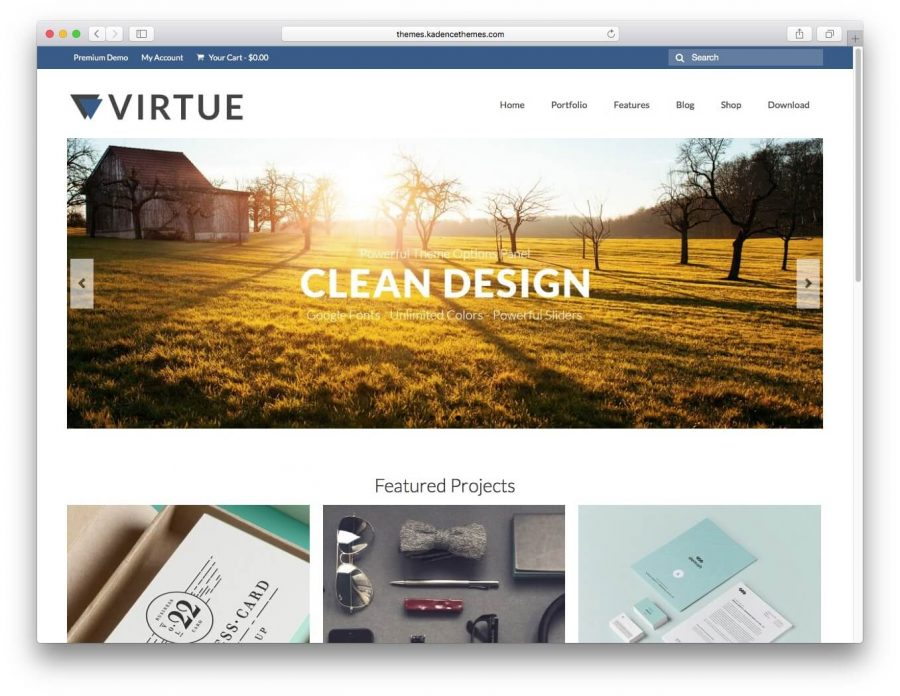 Tema wordpress virtue