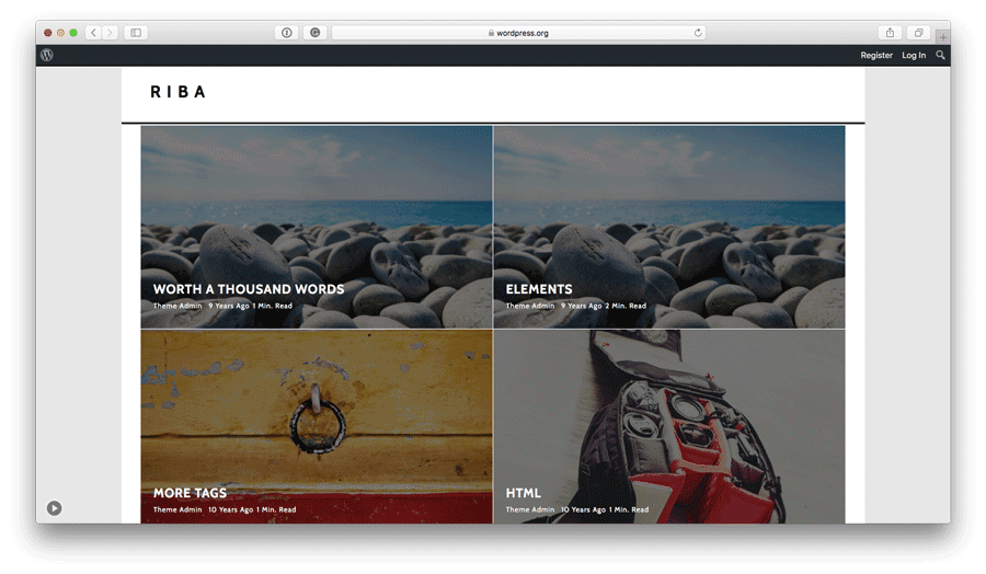 WordPress Tema Riba lite