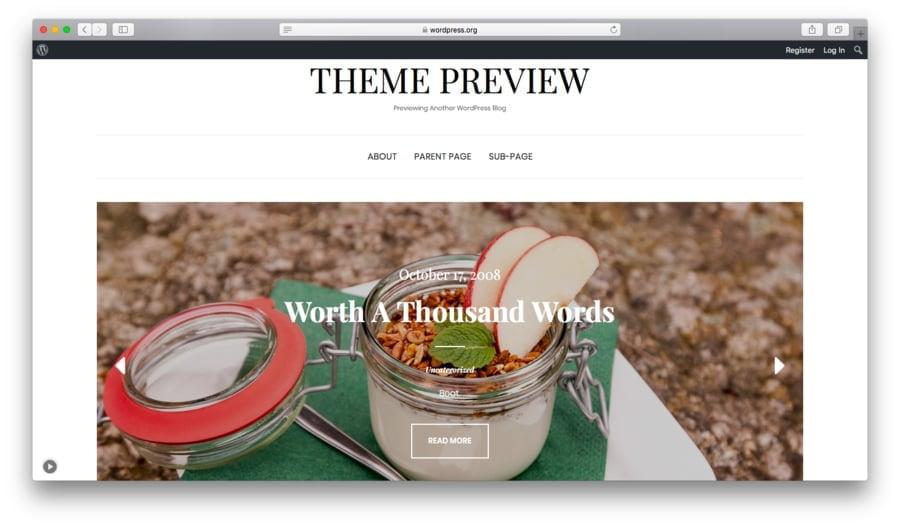 Elara é um tema gratuito para WordPress