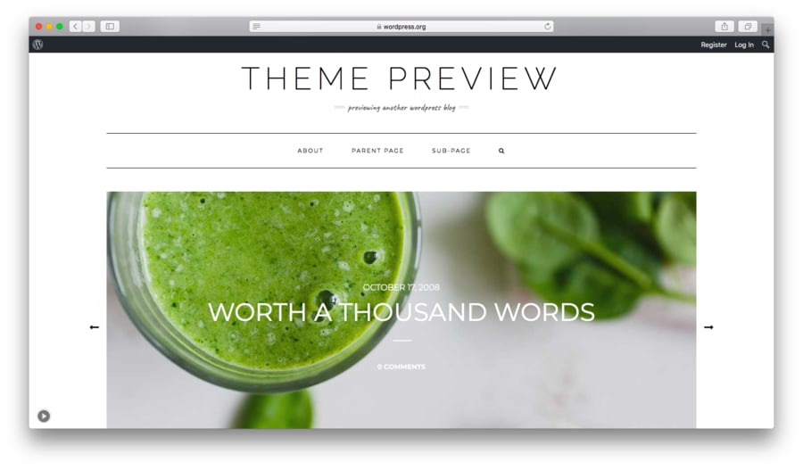 Kale é um tema gratuito para wordpress